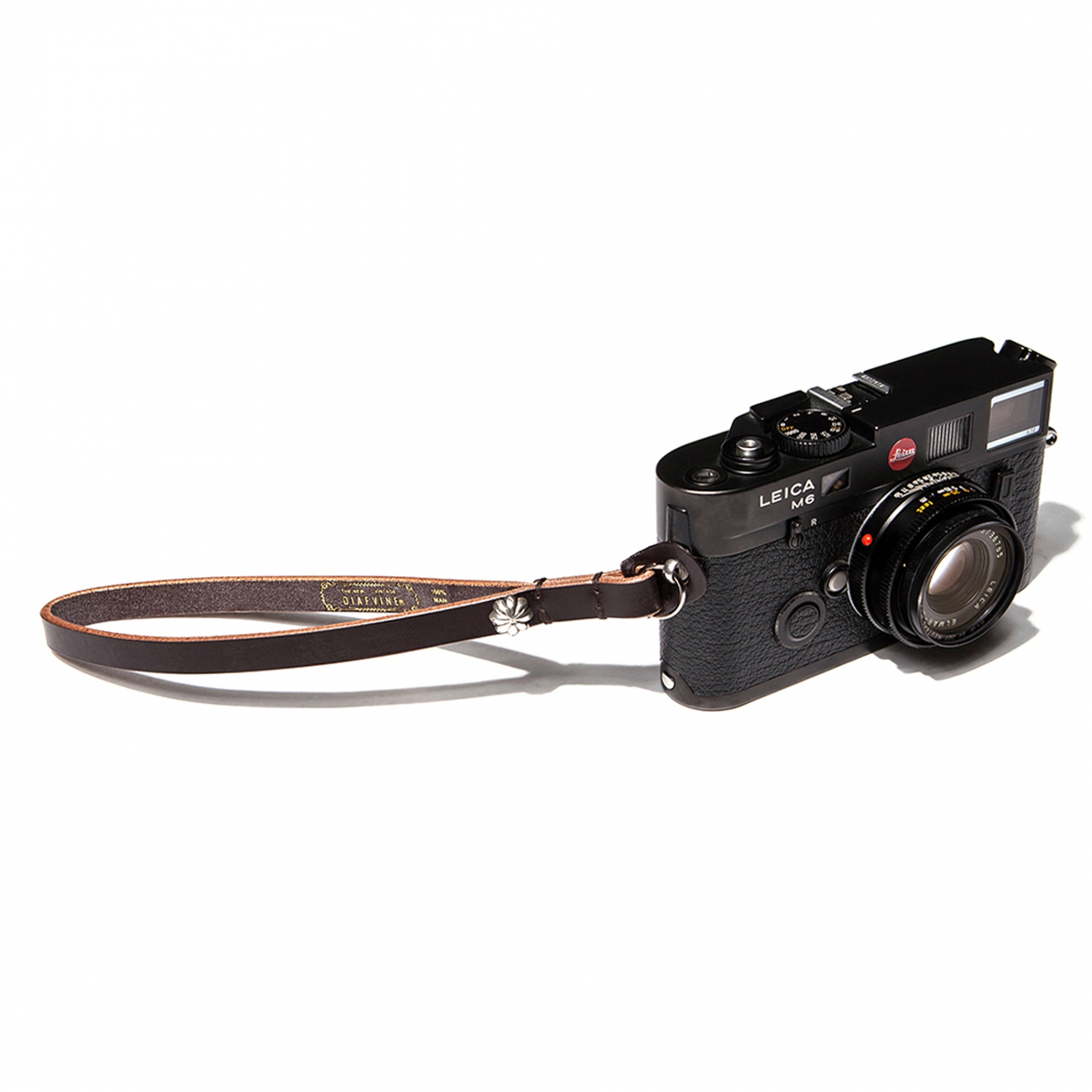 D- 362 BRIDLE LEATHER CAMERA STRAP Lot.002 -DARK BROWN-