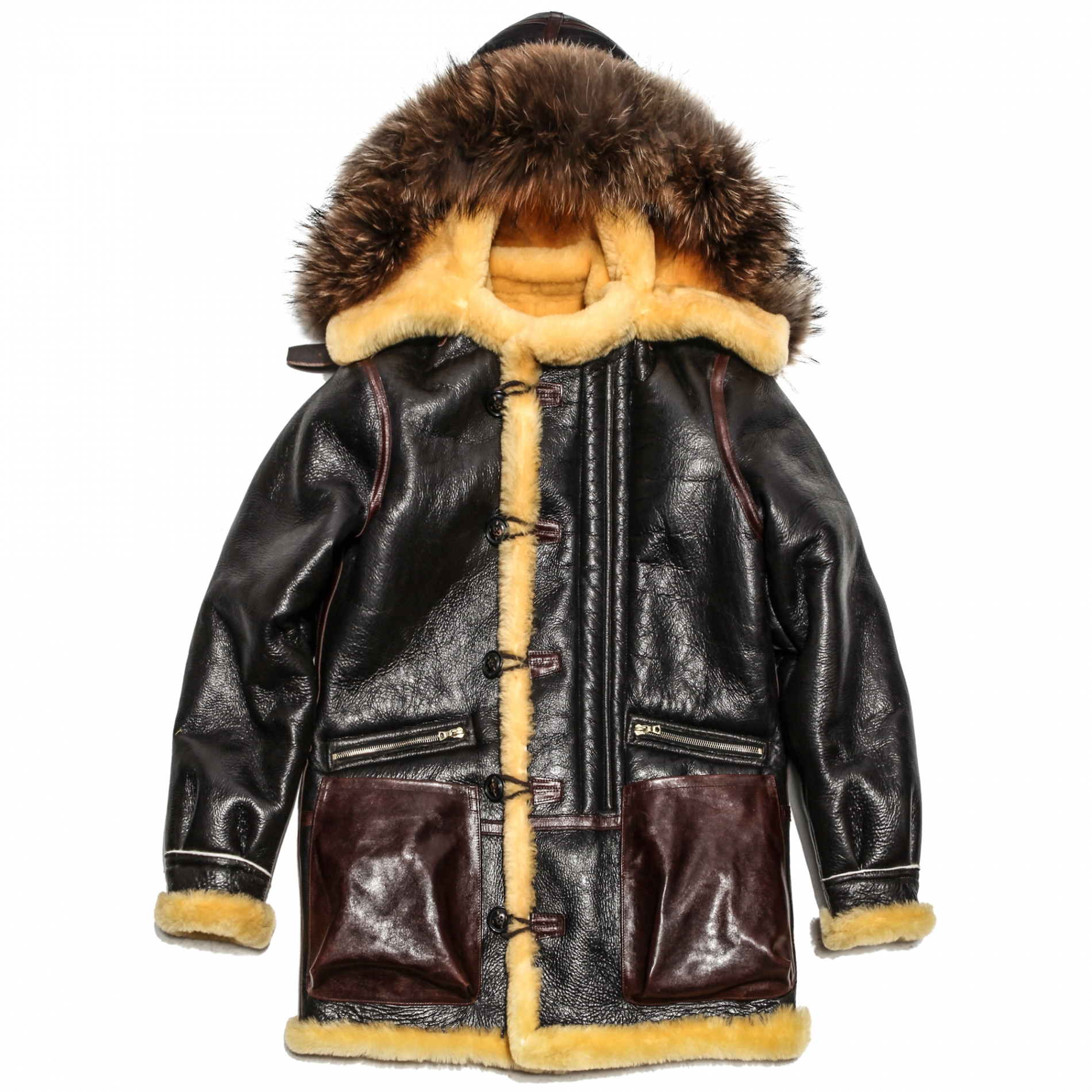 D- 395 TYPE B-7 MOUTON PARKA -DARK BROWN-
