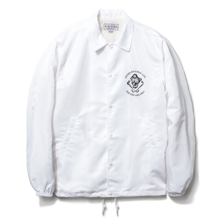 "DV. LOT434 ""C.S"" NYLON COACH JKT -WHITE-"