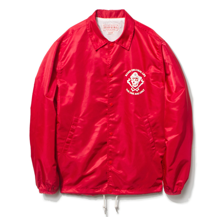 "DV. LOT434 ""C.S"" NYLON COACH JKT -CORAL RED-"