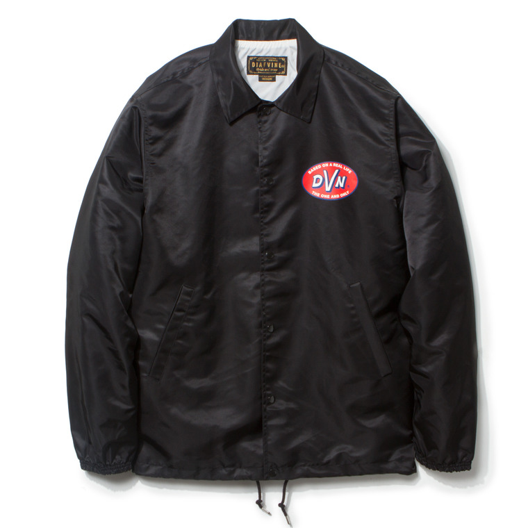 "DV. LOT435 ""D.V.N"" NYLON COACH JKT -BLACK-"