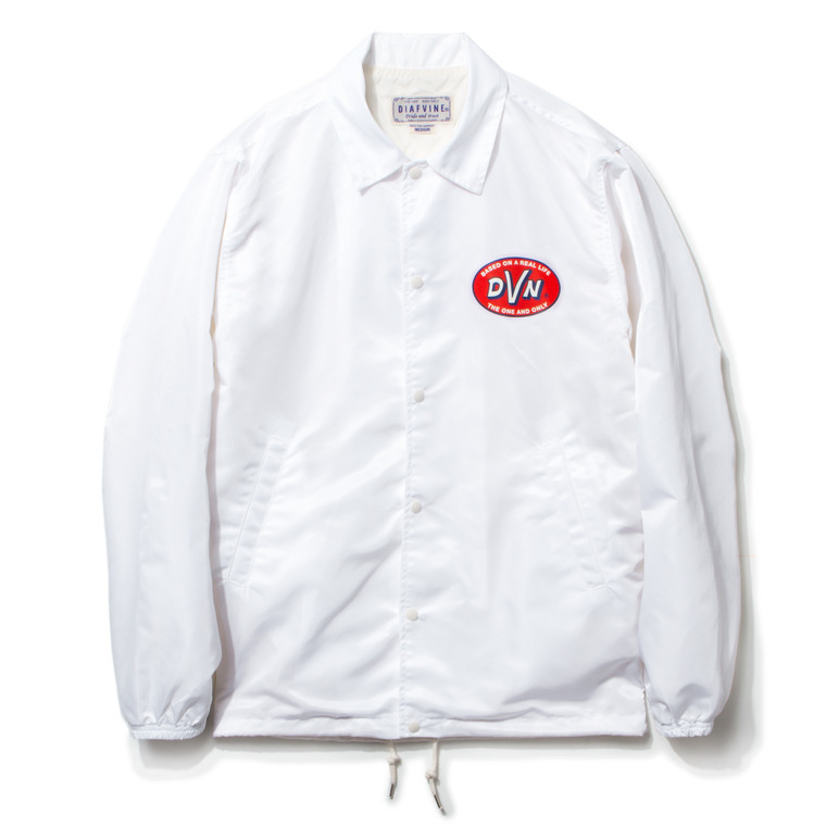 "DV. LOT435 ""D.V.N"" NYLON COACH JKT -WHITE-"
