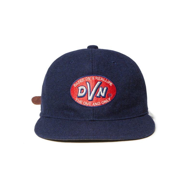 "[SALE 50%]DV. LOT445 ""D.V.N"" WOOL ATHELETIC CAP -NAVY-"
