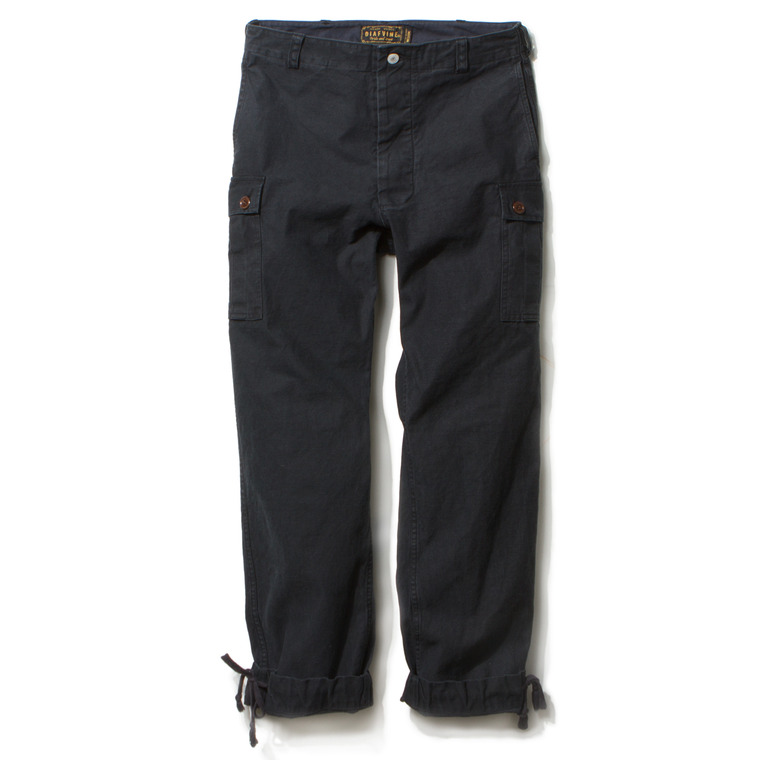 DV. LOT453 1ST JUNGLE FATIGUE TROUSERS -NAVY BLACK-