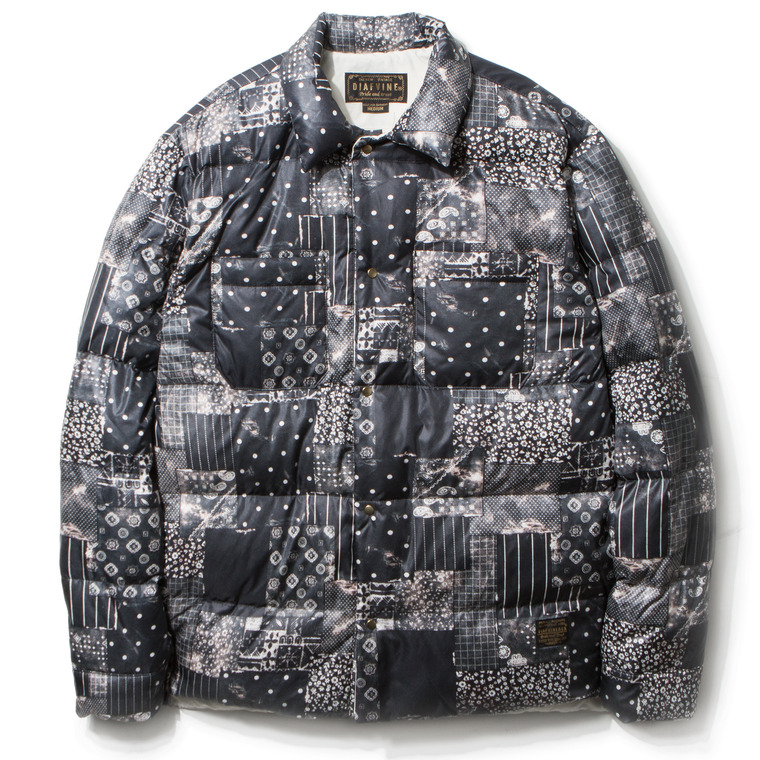 [SALE 67%]DV. LOT455 INK JET PRINTED DUCKDOWN JKT -OIL BLACK-