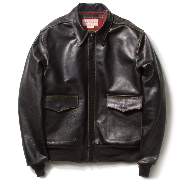 "DV. LOT459 TYPE A-2 ""KIRK"" (HORSEHIDE) -CHARCOAL BLACK-"