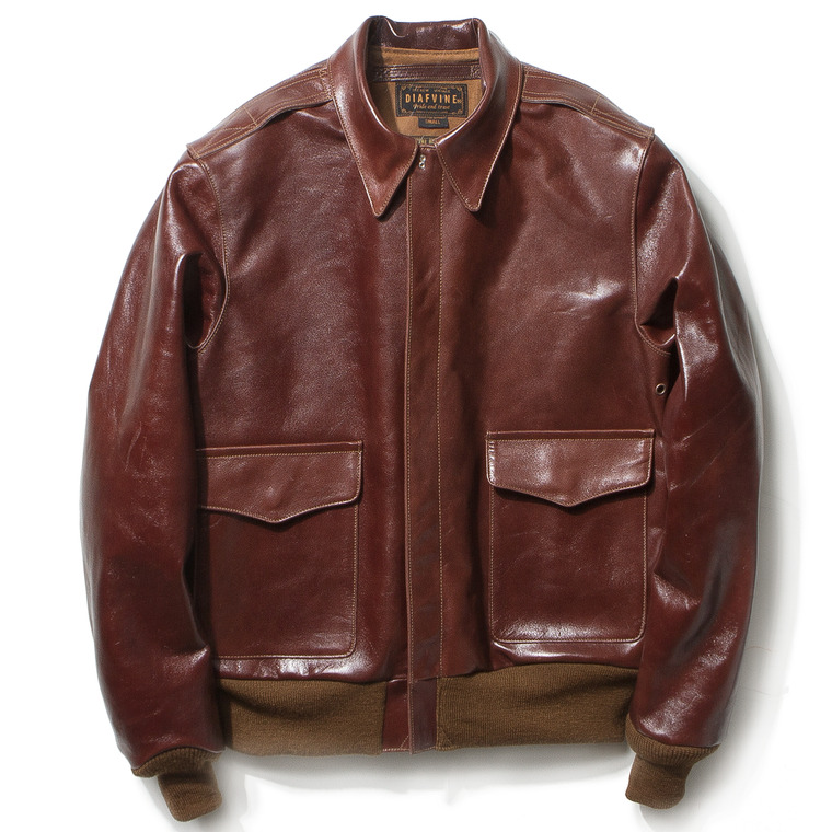 "DV. LOT459 TYPE A-2 ""KIRK"" (HORSEHIDE) -CHERRY BROWN-"