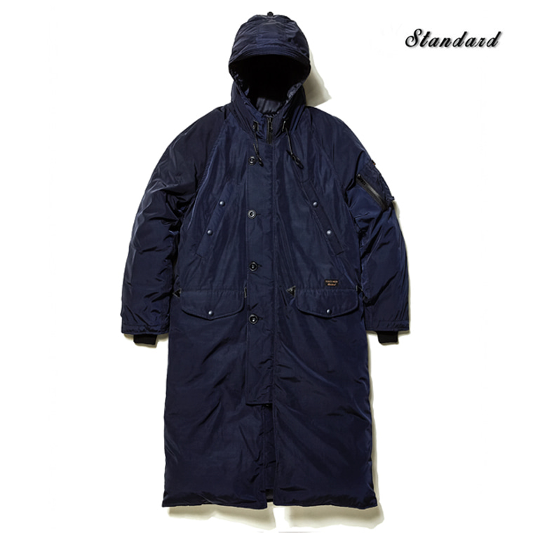 DV. LOT488 DUCKDOWN PADDED LONG PARKA -DARK NAVY-