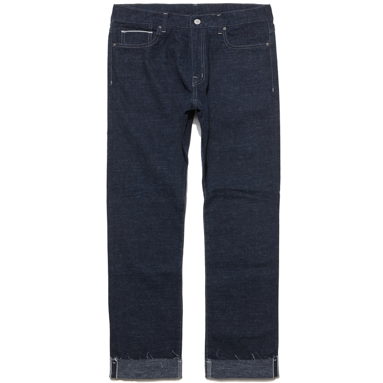 [SALE 35%]DV. LOT498 WOOL SELVEDGE DENIM/ CUT OFF PANTS -LIGHT INDIGO-