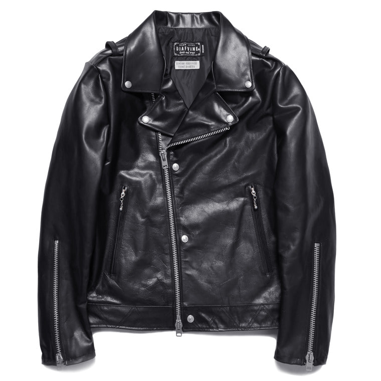 "D- 353 ""JOHNNY"" (HORSE HIDE) -BLACK-"