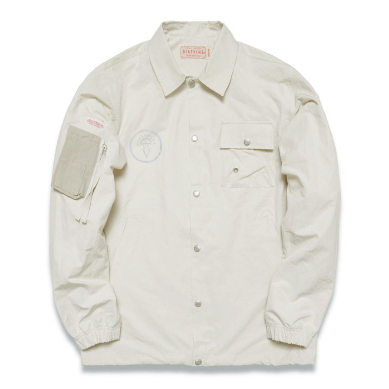 DV.LOT.526 2 OUT-POCKET FIELD SHIRT / JACKET  -IVORY-