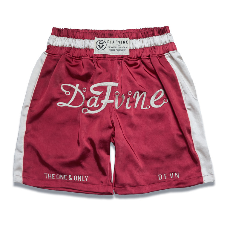 DV. LOT535 BOXER PANTS -BURGUNDY RED-