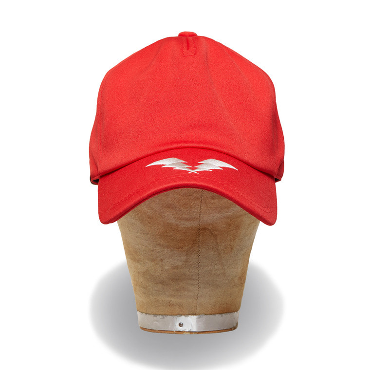 DV. LOT550 THUNDER LOGO 5PANEL CAP -RED-