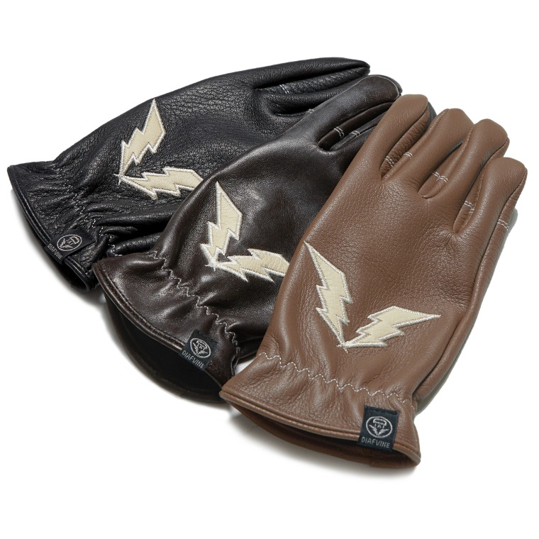 DV.LOT564 DEER SKIN LOGO GLOVE 2 (3 COLOR)