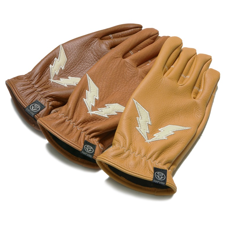 DV.LOT564 DEER SKIN LOGO GLOVE 1 (3 COLOR)