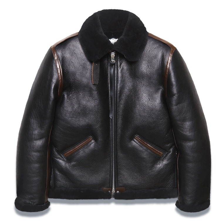"DV. LOT566 ""GLEAM"" TYPE B-6 MOUTON JACKET -BLACK-"