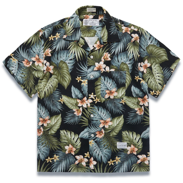 DV. LOT589 ALOHA SHIRTS -BLACK-