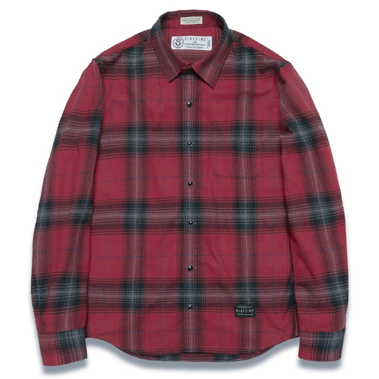 DV. LOT572 PLAID CHECK SHIRTS -RED-