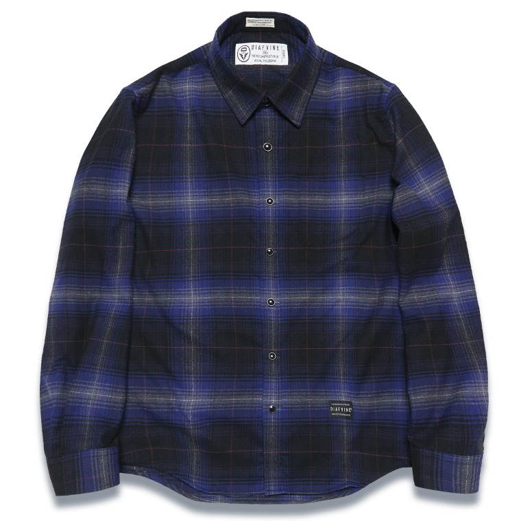 DV. LOT572 PLAID CHECK SHIRTS -BLUE-