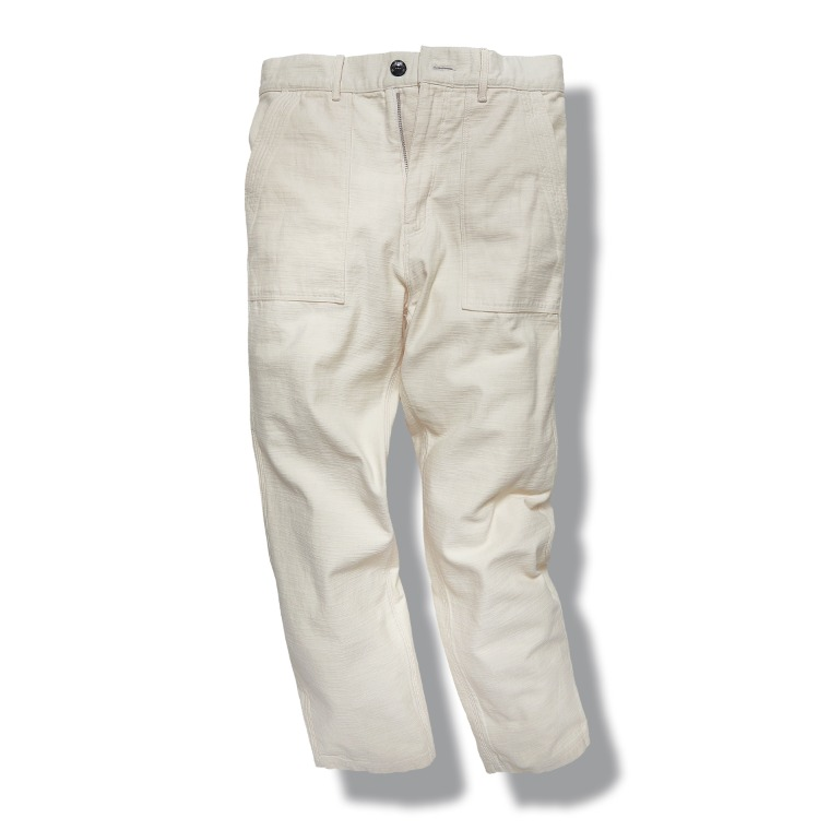 DV. LOT603 Fatigue Pants (BackSatin) -ECRU-