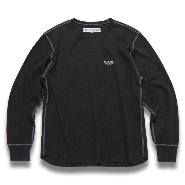 DV. LOT 624 HEAVY WEIGHT THERMAL L/S -BLACK-