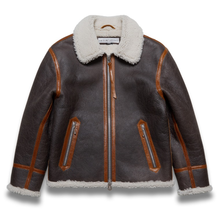 DV.LOT 617 SHEARLING SINGLE JACKET -BROWN/BROWN LINE-