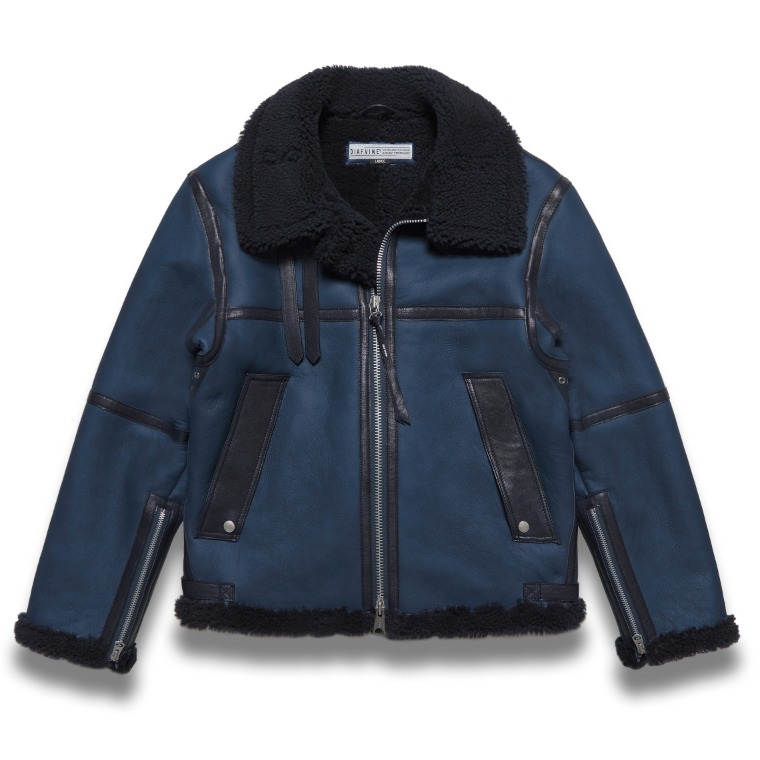 DV.LOT 618 SHEARLING JACKET -NAVY-