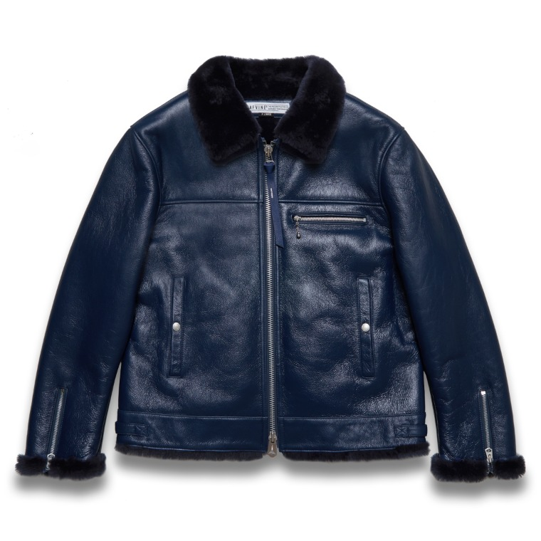 DV.LOT 616 REO SHEARLING SINGLE RIDER -NAVY-