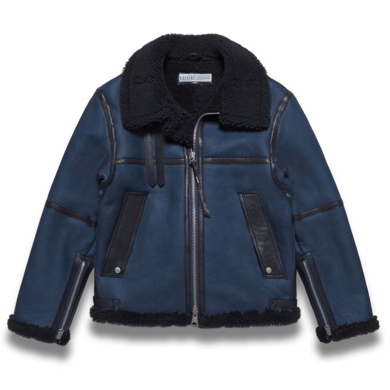 DV.LOT 618 SHEARLING JACKET -NAVY BLUE-