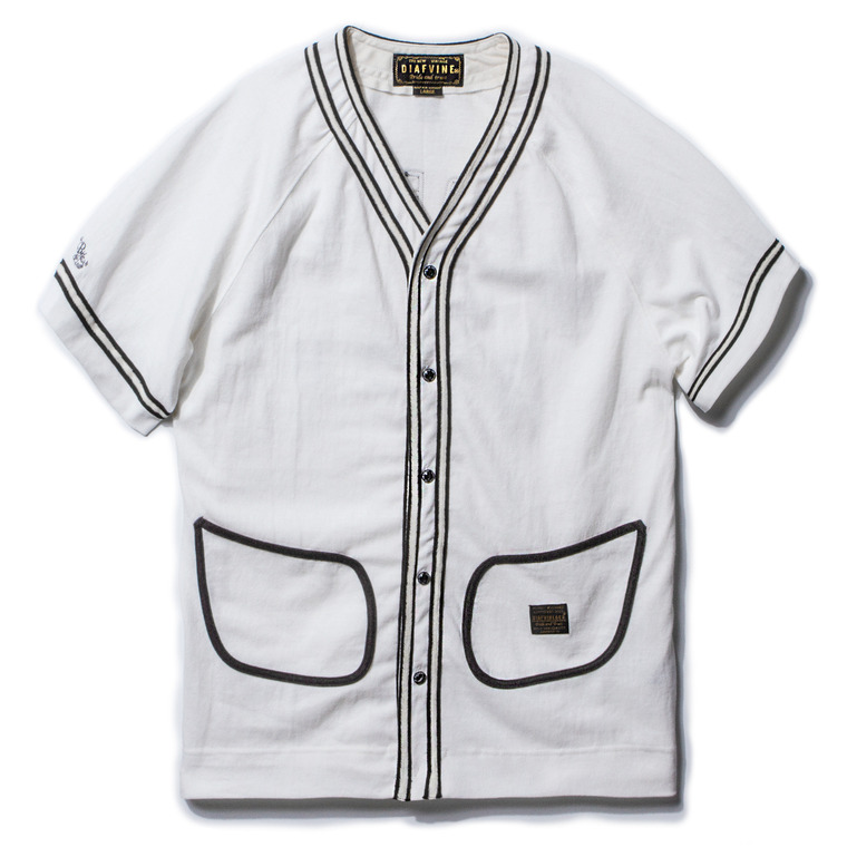 "DV. LOT409 ""ACE"" BASEBALL JERSEY -WHITE-"