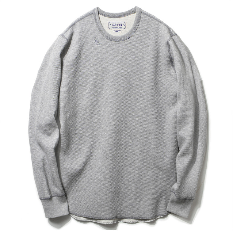 DV. LOT428 HEAVY WEIGHT THERMAL L/S -GREY-