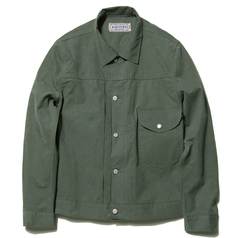 DV. LOT494 COTTON TRUCKER JKT TYPE.1 -KHAKI- (BIOFADE)