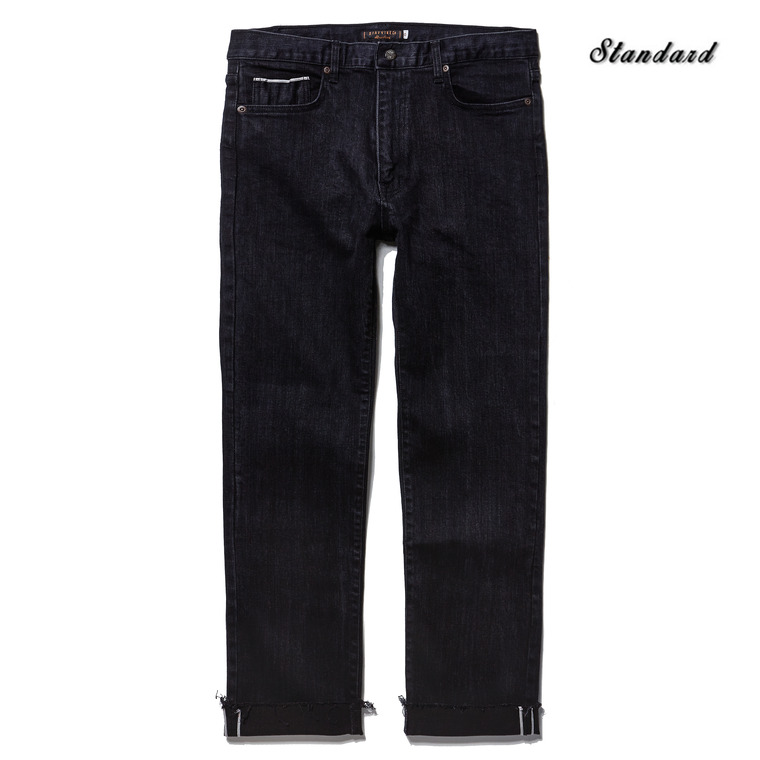 DV. LOT497 SELVEDGE DENIM/ CUT OFF PANTS -BLACK- (BIOFADE)