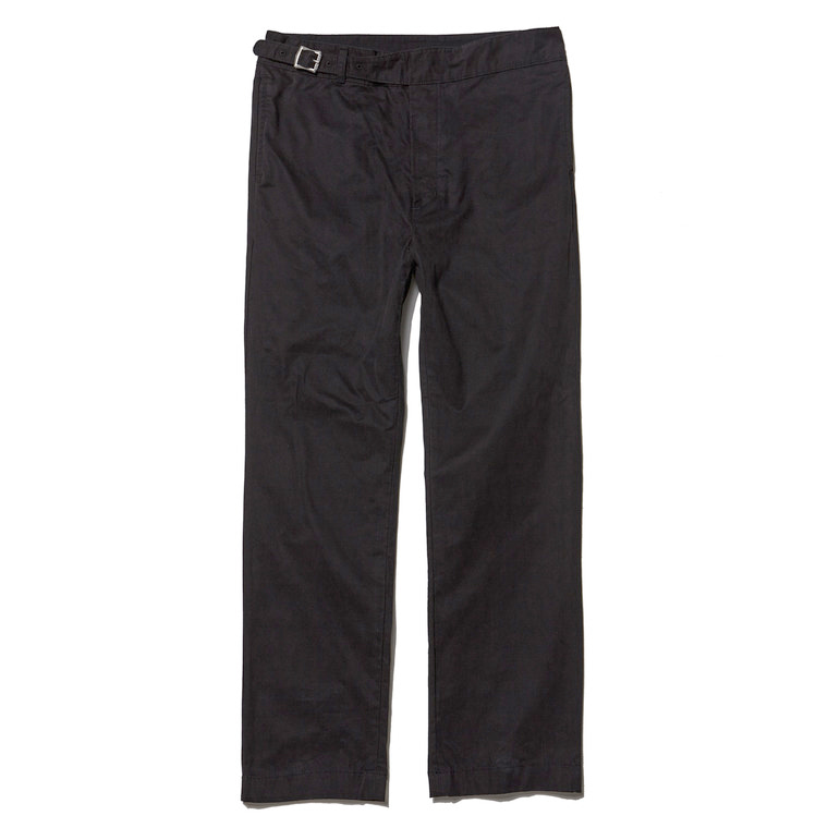 DV. LOT496 COTTON GURKHA PANTS -BLACK- (BIOFADE)