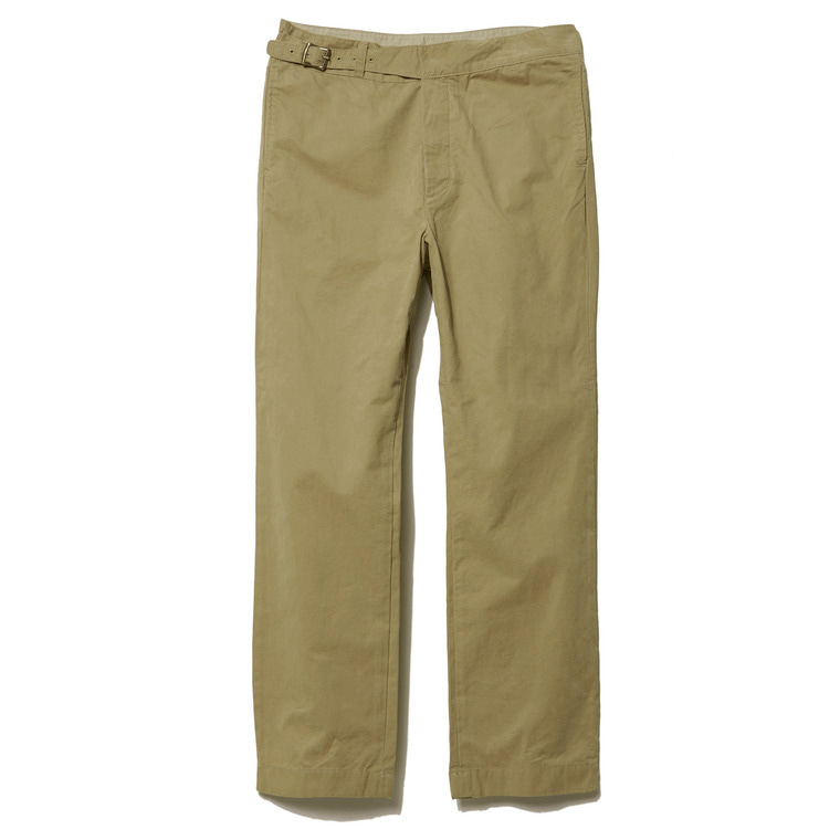 DV. LOT496 COTTON GURKHA PANTS -BEIGE- (BIOFADE)