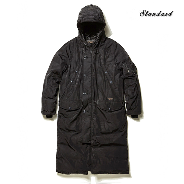 DV. LOT488 DUCKDOWN PADDED LONG PARKA -BLACK-