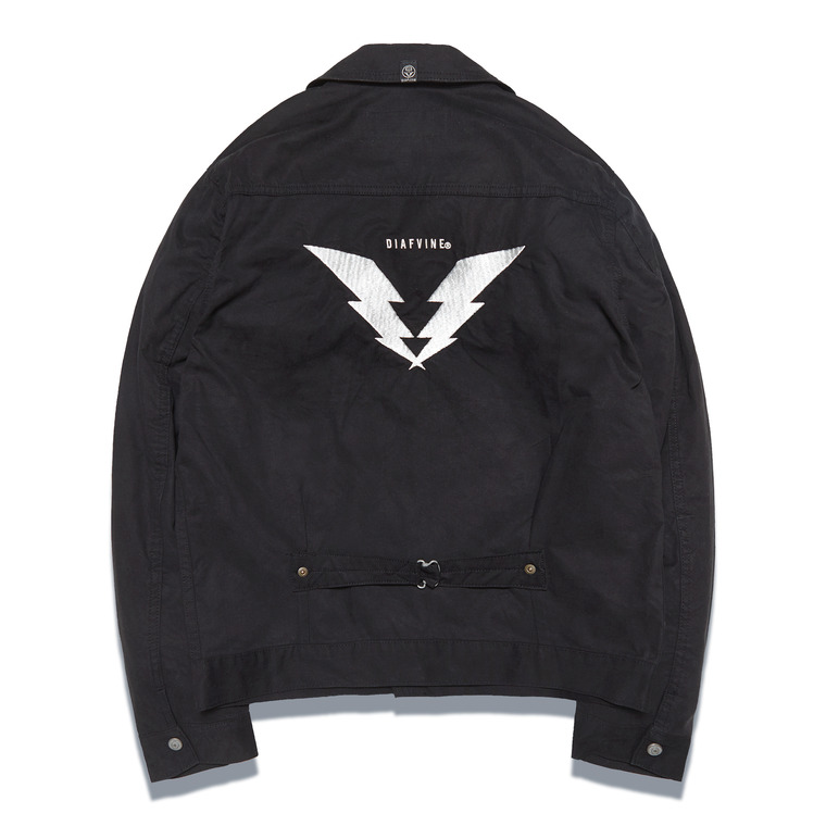 DV. LOT546 EMBROIDERY TRUCKER JKT -BLACK- (BIOFADE)
