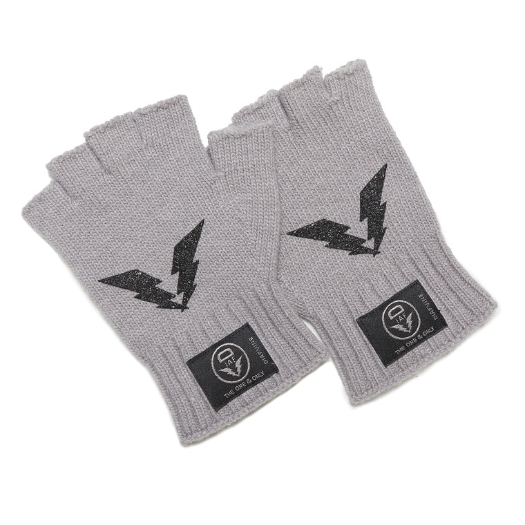 DV. LOT555 WOOL OPEN FINGER GLOVE -LIGHT GREY-