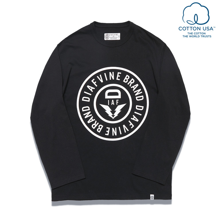 DV. LOT560 BASIC LOGO L/S -BLACK-