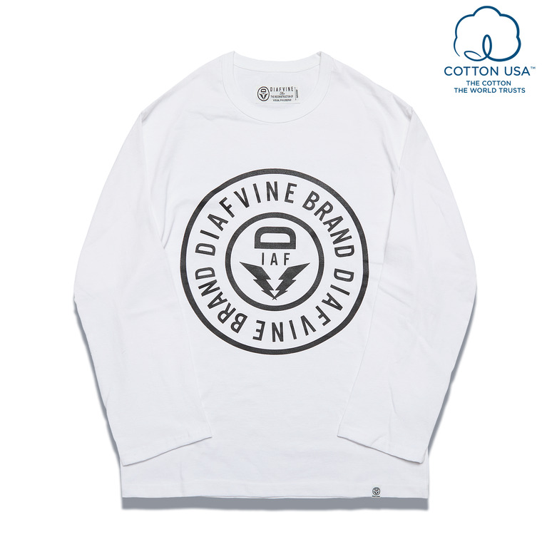 DV. LOT560 BASIC LOGO L/S -WHITE-