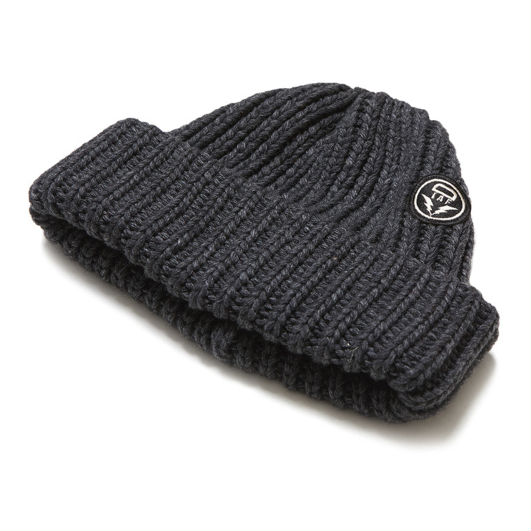 DV. LOT 553 WOOL LONG BEANIE -CHARCOAL-