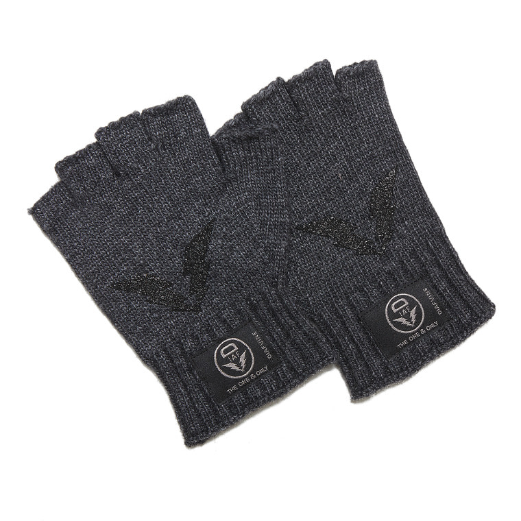 DV. LOT555 WOOL OPEN FINGER GLOVE -CHARCOAL-