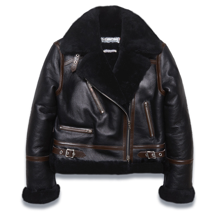 "[여성용] DV. LOT563 ""RISE"" MOUTON RIDERS JKT -BLACK-"
