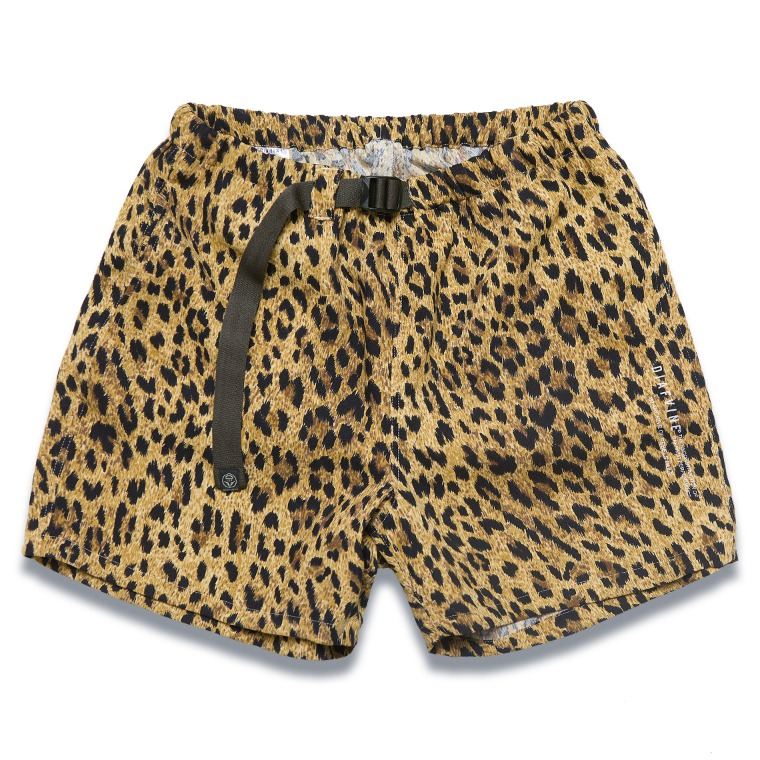 DV. LOT591 LEOPARD WAIST BELT SHORTS -YELLOW-