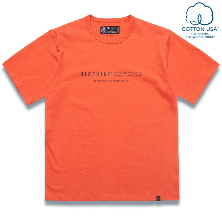 DV. LOT584 DESIGN TEE / TYPE-2 -ORANGE-